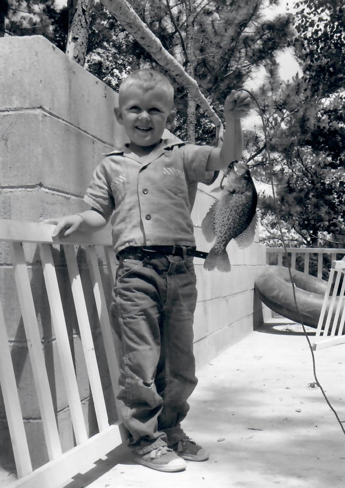 1957 Colin with crappie
