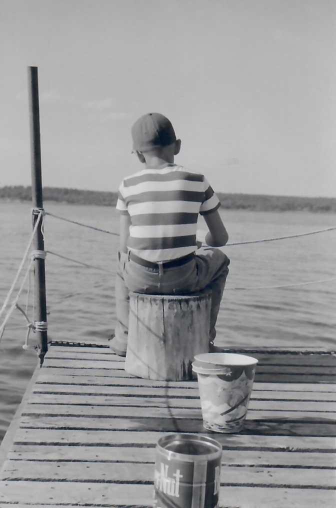 1961 Colin on the Dock